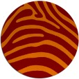 rug #388549   round red-orange animal rug
