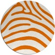 rug #388553 | round orange stripes rug