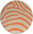 rug #388557 | round beige animal rug