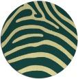 rug #388565   round blue-green animal rug