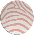 rug #388581 | round white stripes rug