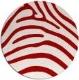 rug #388601   round red stripes rug