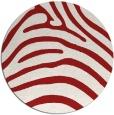 rug #388609   round red stripes rug