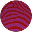 rug #388613 | round red animal rug