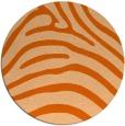 rug #388621   round red-orange animal rug