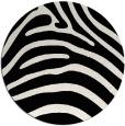 rug #388633 | round white animal rug
