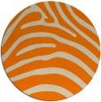 rug #388677 | round orange stripes rug