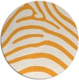 rug #388709 | round light-orange animal rug