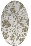 rug #389417 | oval beige popular rug