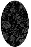 rug #389425 | oval black rug