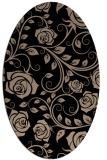 rug #389429 | oval beige natural rug