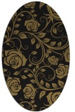 rug #389437 | oval brown rug