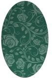 rug #389473 | oval blue-green natural rug