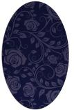 rug #389501 | oval blue-violet rug