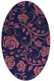 rug #389509 | oval blue-violet rug
