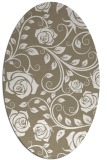 rug #389557 | oval mid-brown natural rug