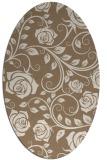 rug #389569 | oval mid-brown natural rug