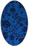 rug #389585   oval blue rug