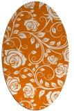 rug #389609 | oval orange rug