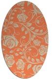 rug #389613   oval beige natural rug