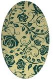 rug #389621 | oval yellow popular rug