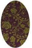 rug #389645 | oval purple popular rug