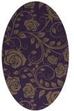 rug #389649   oval purple popular rug
