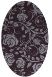 rug #389653 | oval purple rug