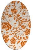 rug #389685 | oval red-orange natural rug