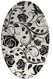 rug #389689 | oval white rug