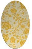 rug #389705 | oval yellow rug