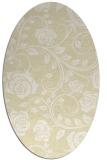 rug #389709 | oval white natural rug