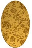 rug #389721   oval yellow natural rug