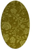 rug #389737 | oval light-green rug