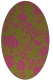 rug #389745 | oval light-green rug
