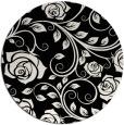 rug #390125 | round black natural rug