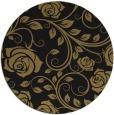 rug #390141 | round brown rug