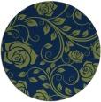rug #390157 | round blue natural rug