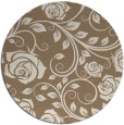 rug #390273 | round beige natural rug