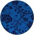 rug #390289 | round blue natural rug