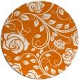 rug #390313   round orange popular rug