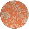 rug #390317   round orange natural rug