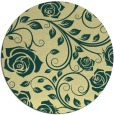 rug #390325 | round blue-green natural rug