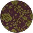 rug #390349   round purple rug