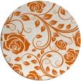 rug #390389 | round red-orange natural rug
