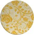 rug #390409   round yellow rug