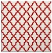rug #396345 | square red traditional rug