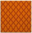 rug #396361 | square red-orange traditional rug