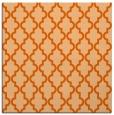 rug #396365 | square red-orange traditional rug