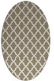 rug #396457 | oval white traditional rug